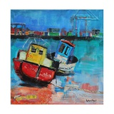 Two Jolly Fishing Boats 2012 Giclee Print by Sylvia Paul