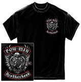 POW MIA - Biker With Rockers Black Silver Foil T-shirts