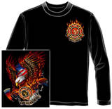 Long Sleeve: Patriotic Fire Eagle American Made T-shirts