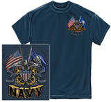 Navy - Double Flag Eagle T-Shirt