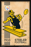 Pittsburgh Steelers - Retro Logo 14 Posters