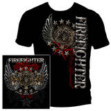 Elite Breed Firefighter Pride Duty Honor Silver Foil T-Shirt