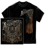 2nd Amendment Eagle Black Silver Foil T-shirts