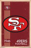 San Francisco 49Ers - Retro Logo 14 Print