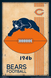 Chicago Bears - Retro Logo 14 Plakat