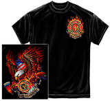 Patriotic Fire Eagle American Made T-shirts