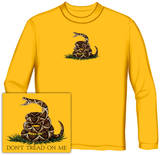 Long Sleeve: Don't Tread On Me Golden Yellow T-shirts