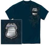 Policeman's Crome Badge With Policemans Prayer T-Shirt