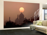 Sun Sets over Taj Mahal Mausoleum, Agra, India Wall Mural – Large by  Jaynes Gallery