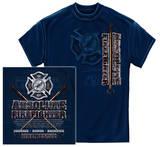Absolute Firefighter Blue Print T-Shirt