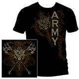 Army Axes Gold Tribal T-shirts
