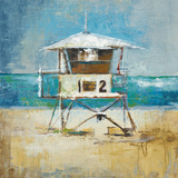 Lifeguard Tower Print by Liz Jardine