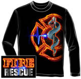 Long Sleeve: Fire Rescue Full T-shirts