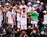 San Antonio Spurs Tim Duncan Celebrates Winning Game 5 of the 2014 NBA Finals Photo