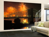 4th of July, Brooklyn Bridge, New York, USA Wall Mural – Large by Peter Bennett