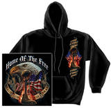Hoodie: Home Of The Free Because Of The Brave Pullover Hoodie
