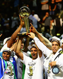 San Antonio Spurs Tony Parker NBA Championship Trophy Game 5 of the 2014 NBA Finals Photo