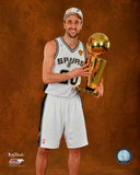 San Antonio Spurs Manu Ginobili NBA Championship Trophy Game 5 of the 2014 NBA Finals Photo