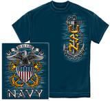 Navy - Full Print Eagle T-shirts