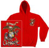 Hoodie: USMC - Eagle Pullover Hoodie