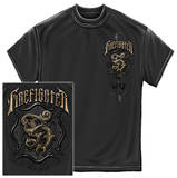 Firefighter - Vintage Charcoal Gray T-Shirt