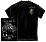 Marine Corps - Sempri Fi Chrome Dog T-shirts