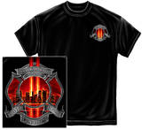 Firefighter - Tribute High Honor Red T-shirts