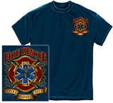 Firefighter - Fire Rescue Gold Shield Shirts