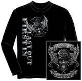 Long Sleeve: Firefighter Race For A Cure Navy T-Shirt