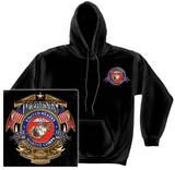 Hoodie: USMC - Badge Of Honor Pullover Hoodie