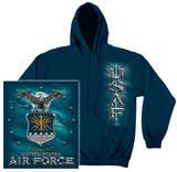 Hoodie: Air Force - USAF Missle Pullover Hoodie