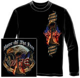 Long Sleeve: Home Of The Free Because Of The Brave T-shirts