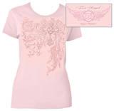 Juniors: Firefighter Fire Angel Pink T-shirts
