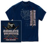 Absolute Volunteer Firefighter Blue Print T-shirts