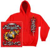 Hoodie: USMC - Semper Fidelis Pullover Hoodie