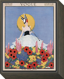 Vogue Cover - January 1915 Framed Print Mount by Margaret B. Bull