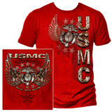 USMC Pride Duty Honor Stars Silver Foil Stamp T-shirts
