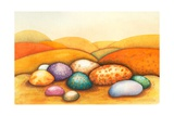 Pebbles, 2012 Giclee Print by Sandra Moore