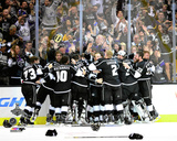 The LA Kings Celebrate Winning Game 5 of the 2014 Stanley Cup Finals Action Photo