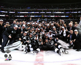 The LA Kings Celebration on ice Game 5 of the 2014 Stanley Cup Finals Action Photo