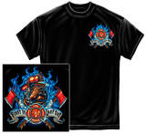 Fire Dog First In Last Out T-shirts