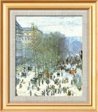 Boulevard des Capucines, c.1873 Kunst af Claude Monet