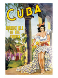 Cuba, Holiday Isle of the Tropics Posters