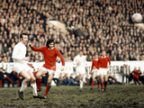 George Best in Action Against Paul Reaney, 1970 Photographic Print