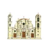 La Habana Cathedral, Cuba Giclee Print by Fernando Aznar Cenamor