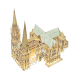 Chartres Cathedral, France Giclee Print by Fernando Aznar Cenamor