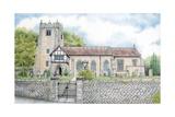 St Wilfrid's Church, Halton, Lancashire, 2009 Giclee Print by Sandra Moore