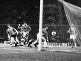 Manchester United 1 vs Juventus 1, April 1984 Photographic Print