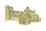 Santiago De Compostela Romanesque Cathedral, Reconstruction, Spain Giclee Print by Fernando Aznar Cenamor