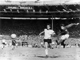 1966 World Cup Final: England vs West Germany Fotografisk tryk